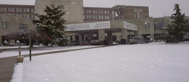 Self Regional Medical Center in snow