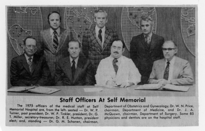 1975 Staff Officers at Self Memorial