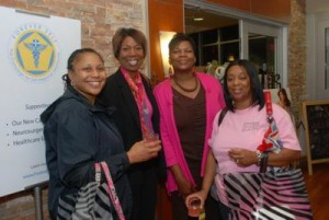 Women celebrate together at the 2011 Pretty in Pink event.