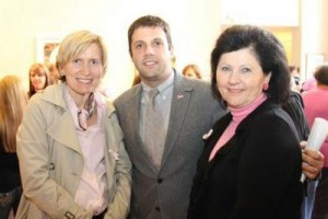 Doctors Joanna Sadurski, Brian Hunis and Lena Vician at the 2012 Pretty in Pink event at the Arts Center.