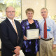 Pictured from left: Ron Deeder, Director of Respiratory Care Services for Self Regional Healthcare, scholarship winner Debra Lyshoj and Dr. O.M. Cobb, Jr., Medical Director for the Respiratory Therapy program and an internist and pulmonologist with Internal Medicine of the Piedmont.