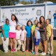 Symetra Tour players Stefanie Kenoyer (left) and JayeMarie Green (right) visit with local students (from left) Shamiya Moraieune, Katie Kellum, Summer Karle, Jennings Brasier, Dru Strickland, Clary Pederson and Collins Strickland featuring the Self Regional Health Express. The Self Regional Healthcare Foundation Women's Health Classic will benefit women's health initiatives in the Lakelands, including support for the Health Express, which offers health outreach, including screenings and education.
