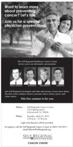 Free Community Cancer Discussion, led by Matthew Bachinski, M.D.; John Konsek, M.D.; Joanna Sadurski, M.D.; and Clint Wood, M.D.