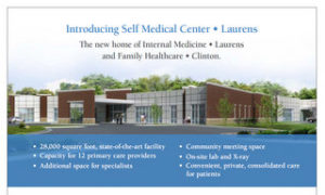 Download the Self Medical Center • Laurens handout with community events calendar and physician information (PDF).