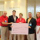 LEFT TO RIGHT: Doug May, Volunteer; Courtney Furman, Self Regional Healthcare Foundation Board Chair; Carolyn Lyons, Auxiliary President; Ken Coffey, Executive Director, Self Regional Healthcare Foundation, Susan Roberts, Auxiliary Vice President.