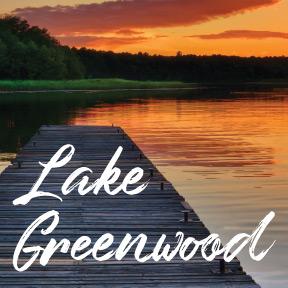 Dock and Lake Greenwood sunset