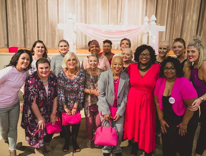 Group photo of Survivor Fashion Show participants