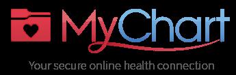 MyChart logo, click to go to secure online Patient Portal