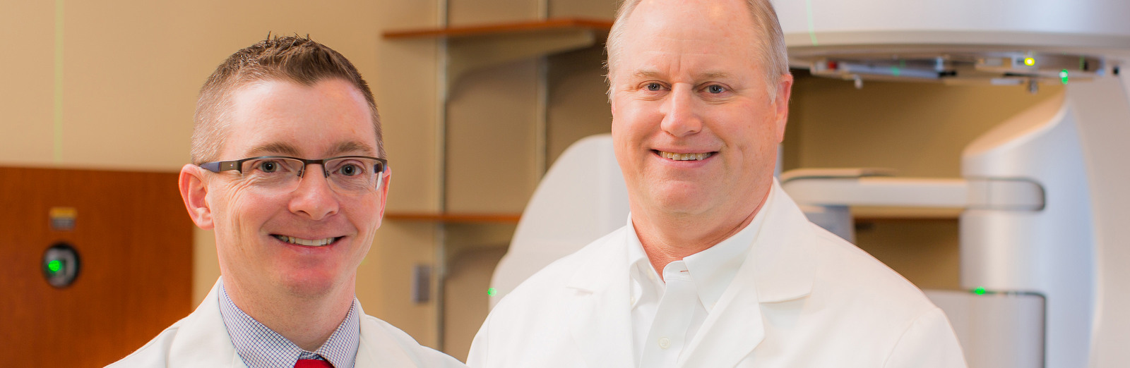 Certified Oncologists. E. Clint Wood, MD and John Funke III, MD at Self Regional Healthcare Cancer Center