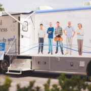The Health Express, a 42-foot mobile community health vehicle
