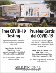 Edgefield Free COVID-19 Testing