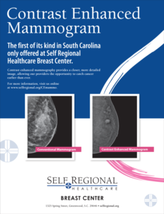 Contrast Enhanced Mammography at Self Regional Healthcare